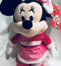 "Disney Minnie Mouse 12"" Pink Christmas Dancing Singing Minnie Mouse Plus... - $34.79"