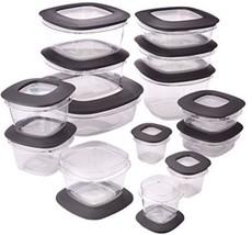 Rubbermaid Rubbermaid Premier Food Storage Containers, 28-Piece Set, Grey - €54,82 EUR