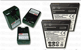 2X Battery + External Battery Charger HTC EVO Design 4G Home Travel Dock BH11100 - $20.16