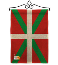 Basque Lands Burlap - Impressions Decorative Metal Wall Hanger Garden Fl... - $33.97