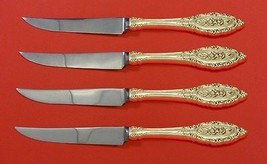 "Grand Majesty by Oneida Sterling Silver Steak Knife Set 4pc HHWS  Custom 8 1/2"" - $315.50"