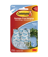 Command Medium Hooks Clear 2 Hooks  and 4 Strips - $7.76