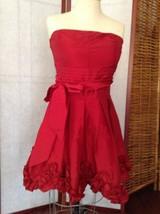Forever 21 Red Dress Dress Strapless Posie Smocked Back Valentines Sz M ... - $17.82