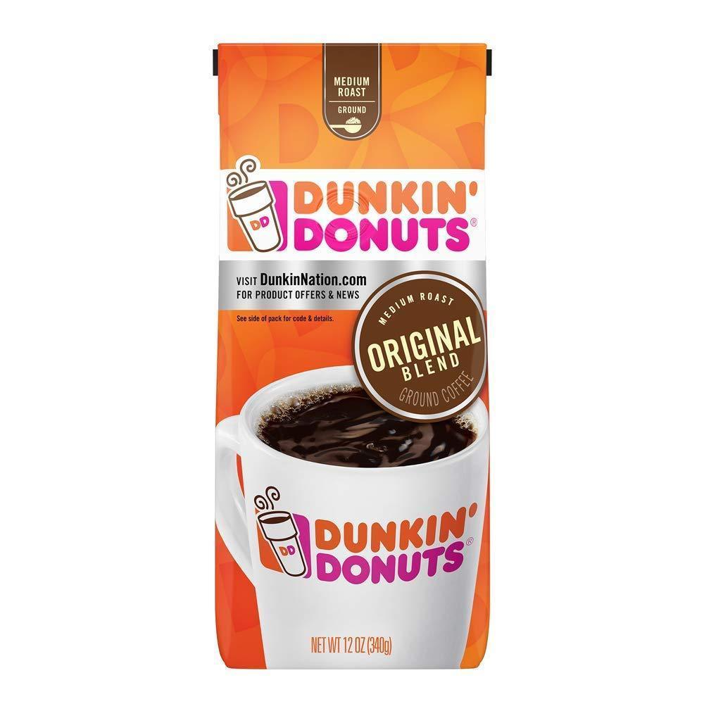 Primary image for DUNKIN DONUTS ORIGINAL BLEND GROUND COFFEE MEDIUM ROAST 12 OUNCES