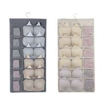 Closet Hanging Storage Bag with Mesh Pocket Oxford Saver Bag For Underwe... - €32,79 EUR