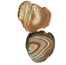 Natural Sliced yellow Dyed Agate Coaster 2 pieces Set 3 inch size - $12.99
