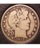 1912 Barber Silver Half Dollar Fine #0724 - $47.99