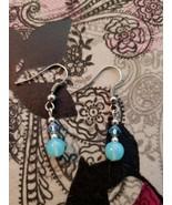Brand New Handmade Blue Dangle Earrings - $9.99