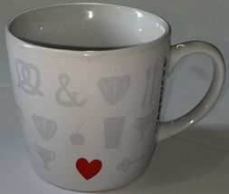 BEAUTIFUL Starbucks Coffee Espresso Cup 7.8 oz Small Things I Love Red H... - $13.37