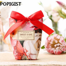 POPIGIST® 50PC/Lot Red Large Rose Flowers Wedding Favors Candy Boxes - $51.92
