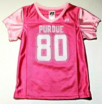 PURDUE BOILERMAKERS PINK JERSEY GIRL 6/6X MADE BY RUSSELL ATHLETIC - $10.00