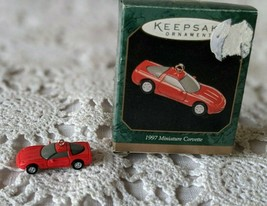 Hallmark 1997 Miniature Corvette Keepsake Christmas Ornament Car Chevrolet - $8.72