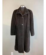Studio by Searle Womens Coat 10 M Brown Wool Alpaca Blend Pockets Made i... - $66.82