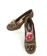 "Mudd ""Freeda"" Womens 8M Dark Brown Suede Bow Top Kitty Heel Shoe - $18.66"