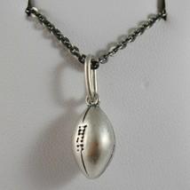Silberkette 925 Brüniert Anhänger A Ball von Football Made in Italien - $144.25