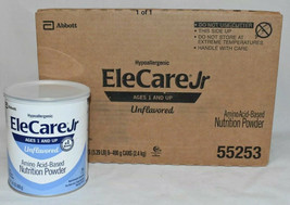 Elecare Jr Unflavored Hypoallergenic Formula Powdered 6 Cans Exp 04/2023... - $139.99