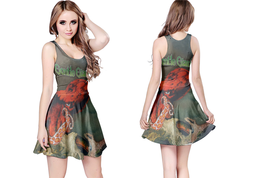 gentle giant OCTOPUS  WOMENS REVERSIBLE SLEEVELESS SHORT MINI DRESS - $17.99+