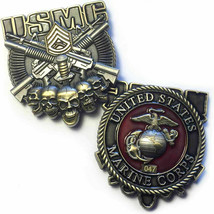 "MARINE CORPS GUNNERY SERGEANT 2"" 3D CHALLENGE COIN - $27.07"
