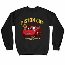 Disney Pixar Cars Piston Cup Champion Adults Unisex Black Sweatshirt - $32.36