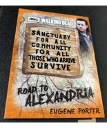 Topps 2018 The Walking Dead Alexandria Patch Card Eugene Terminus Rust # d/ - $14.36