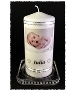 New Baby Congratulations photo message Candle #8 - $21.77