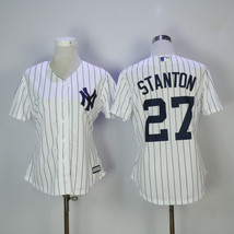 Women New York Yankees 27 Giancarlo Stanton Baseball Jersey White - $42.99