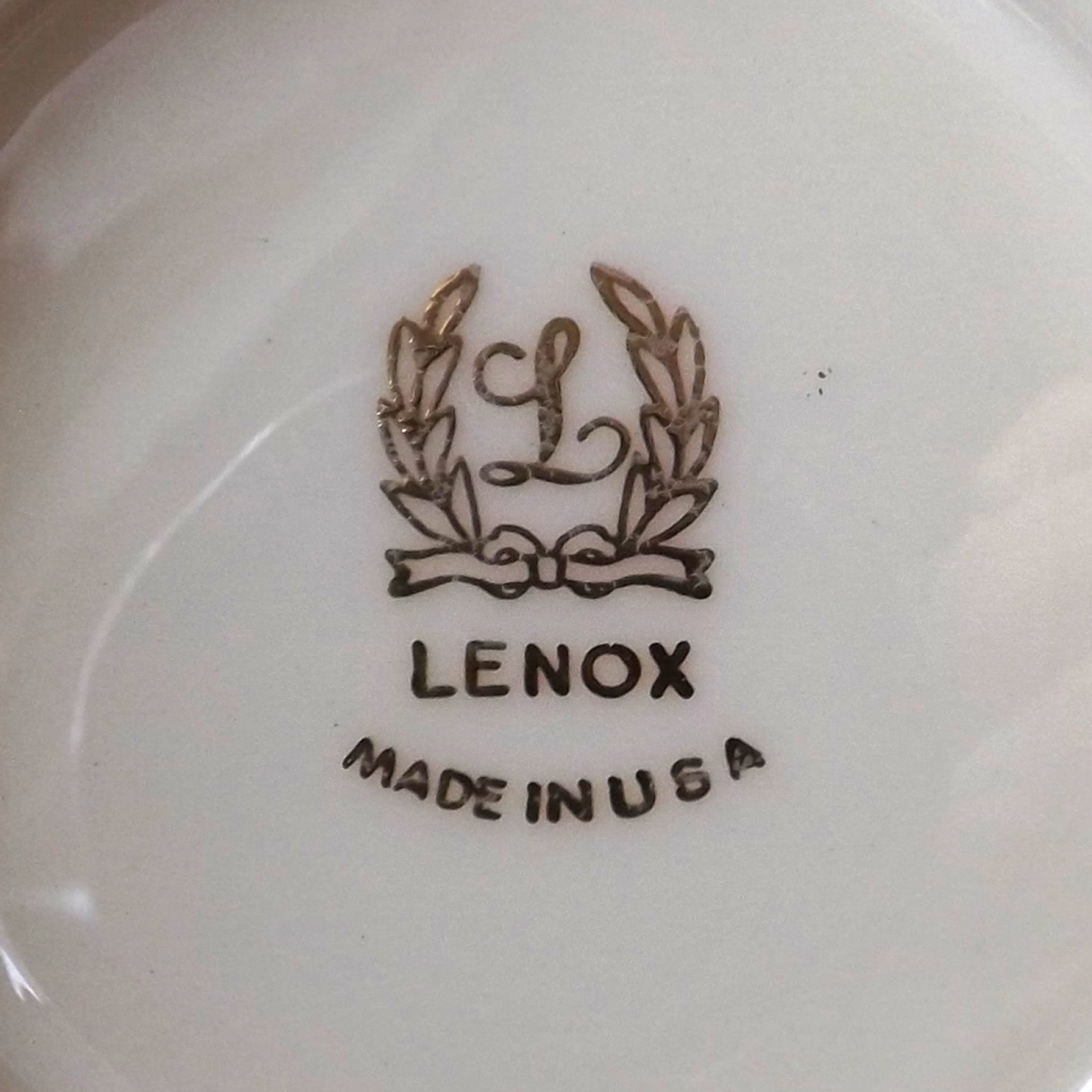 Lenox Pedestal Dish with Gold Trim Made in USA