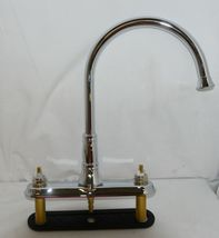 Delta Cassidy Two Handle Kitchen Faucet Side Spray Chrome 2497LF image 3