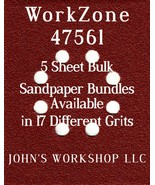 WorkZone 47561 - 1/4 Sheet - 17 Grits - No-Slip - 5 Sandpaper Bulk Bundles - $7.14