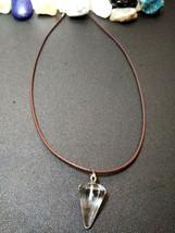 Natural Healing Clear Quartz Pendulum Necklace Women, Men Meditation B Valentine image 1