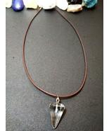 Natural Healing Clear Quartz Pendulum Necklace Women, Men Meditation B V... - $7.91