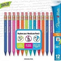 Paper Mate Mates 1.3mm Mechanical Pencils, 12 Colored Barrel Mechanical ... - $48.57