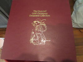 LOT OF 9 HUMMEL GOLD CHRISTMAS ORNAMENT COLLECTION 1986 WITH STORAGE BOX - $28.66
