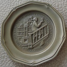 Early To Bed... - Franklin MInt Miniature Collectible Plate - VGC BRONZE - $8.90