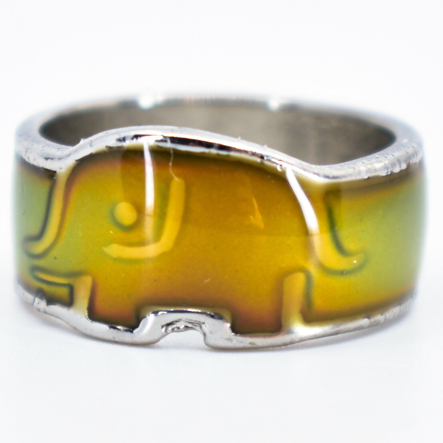 Baby Elephant Shape Children's Color Changing Fashion Mood Ring