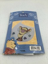 "Leisure Arts Counted Cross Stitch Kit ""Pooh Tigger With Butterflies Bib 113222D - $6.79"