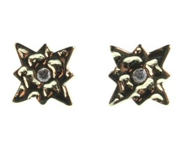 NEW Kevia 18K Gold Plated Cubic Zirconia Crystal Starburst Post Stud Earrings