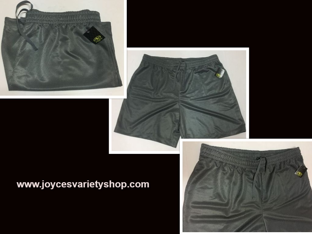 Athletic works gray active shorts web collage