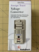 Radio Shack 1600 Watt Foreign Travel Voltage Converter Adapter  - $12.69