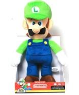 1 World Of Nintendo Super Mario Official Licensed Product Luigi Jumbo Plush - $89.99