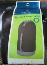 "New Protege Oversized Barrel Duffel 34""x16"" Sport Gym Shoulder Strap Bla... - $14.26"
