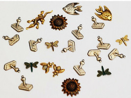 Various Silver and Gold Charms, Set of 22