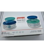 Pyrex Simply Store Decorated Glass Storage 8-Piece Set - $20.86