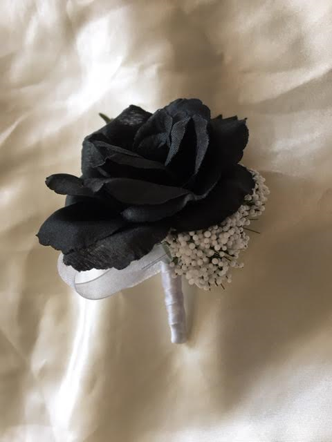 Silk black rose boutonniere and 17 similar items silk black rose boutonniere mightylinksfo