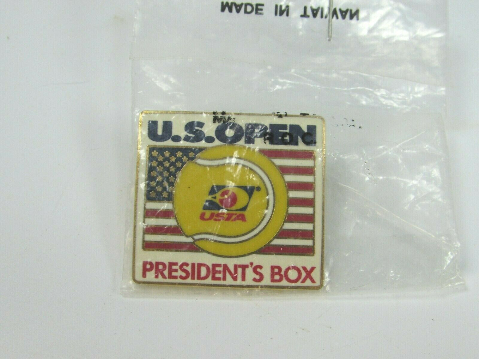 VINTAGE U S Open USTA Lapel Pin Presidents Box Tennis 30515 image 2