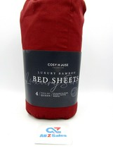 Queen Size Cosy House Collection Luxury Bamboo Bed Sheets - Burgundy - NEW - $44.50
