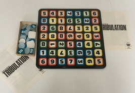 vintage the game of  tribulation game pieces parts number codes craft art supply - $16.13