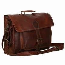 "Leather Messenger Bag for Men Women 15 &16"" laptop Bag for Travel Colleg... - $59.40+"