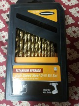 Warrior Titanium Nitride High Speed Steel Drill Bit Set 62281 - $36.99