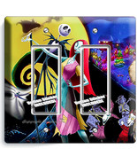 NIGHTMARE BEFORE CHRISTMAS JACK AND SALLY 2 GFCI LIGHT SWITCH PLATES ROOM DECOR - $11.69